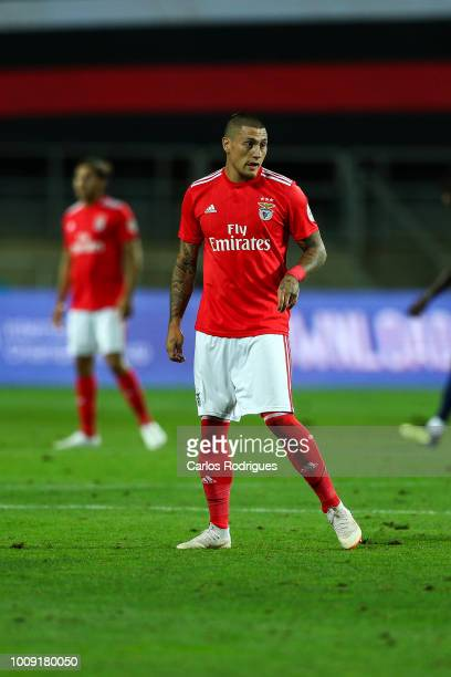 Nicolas Castillo from SL Benfica during the match between SL Benfica v Lyon for the International Champions Cup Eusebio Cup 2018 at Estadio do...