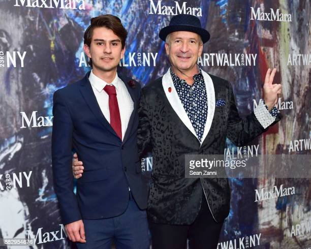 Nicolas Cifuentes and Larry Dvoskin attend the 2017 ARTWALK NY Benefiting Coalition for the Homeless at Spring Studios on November 29 2017 in New...