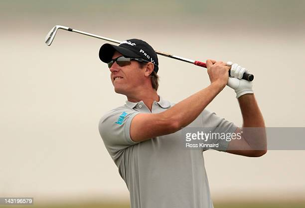 Nicolas Colsaerts of Belgium during the third round of the Volvo China Open at the Binhai Lake Golf Course on April 21 2012 in Tianjin China