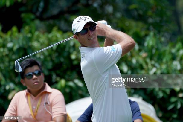 Nicolas Colsaerts of Belgium in action during Day Two of the Maybank Championship at Saujana Golf and Country Club on March 22 2019 in Kuala Lumpur...