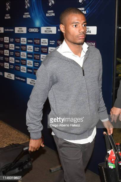 Nicolas De la Cruz of River Plate arrives to Brazil May 20 2019 in Curitiba Brazil River Plate will face Atletico Paranaense as part of Recopa...