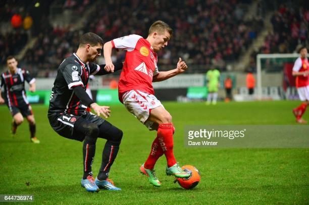 Nicolas DE PREVILLE / Carl MEDJANI - - Reims / Valenciennes - 27eme journee de Ligue 1 -, Photo : Dave Winter / Icon Sport