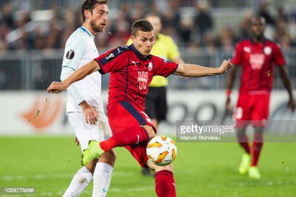 Nicolas De Preville of Bordeaux during the UEFA Europa League match between Bordeaux and Zenith St Petersburg at Stade Matmut Atlantique on November...