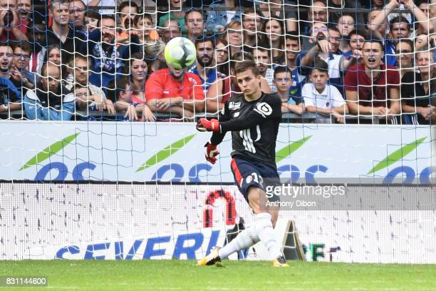 Nicolas De Preville of Lille during the Ligue 1 match between Racing Club Strasbourg and Lille OSC at Stade de la Meinau on August 13 2017 in...