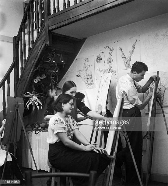 Nicolas De Stael In Fernand Leger'S Studio In 1946