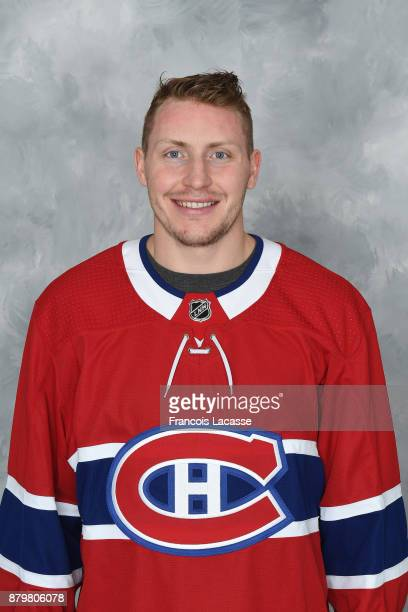 Nicolas Deslauriers of the Montreal Canadiens poses for his official headshot for the 201718 season on November 16 2017 in Montreal Quebec Canada
