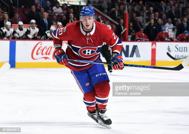 Nicolas Deslauriers of the Montreal Canadiens skates against the Arizona Coyotes in the NHL game at the Bell Centre on November 16 2017 in Montreal...