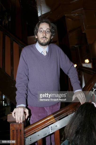 Nicolas d'Estienne d'Orves attends the 83rd Prix Cazes de la Brasserie Lipp Literary Prize at Brasserie Lipp on March 22 2018 in Paris France
