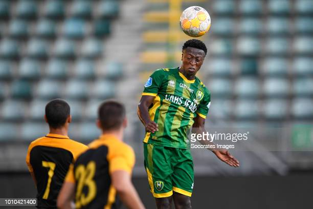 Nicolas Diguiny of Aris Thessaloniki Georgios Valerianos of Aris Thessaloniki Robin Polley of ADO Den Haag during the Club Friendly match between ADO...