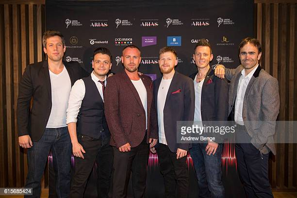 Nicolas Doodson Michael Welton Callum McIntosh Andrew Frost Stephen Trowell and Fraser Collins of The Magnets attend the Audio Radio Industry Awards...