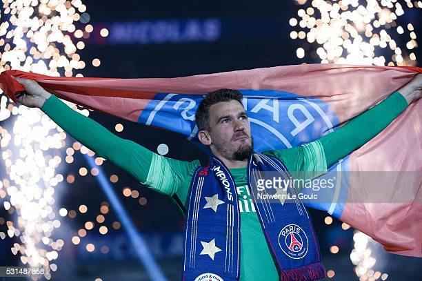 Nicolas Douchez of PSG during the football french Ligue 1 match between Paris SaintGermain and FC Nantes at Parc des Princes on May 14 2016 in Paris...