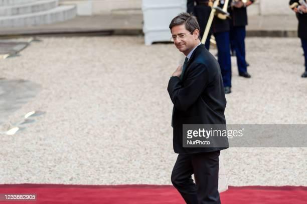 Nicolas Dufourcq arrives for state diner with Italian President Sergio Mattarella and his daughter Laura Mattarella and French President Emmanuel...