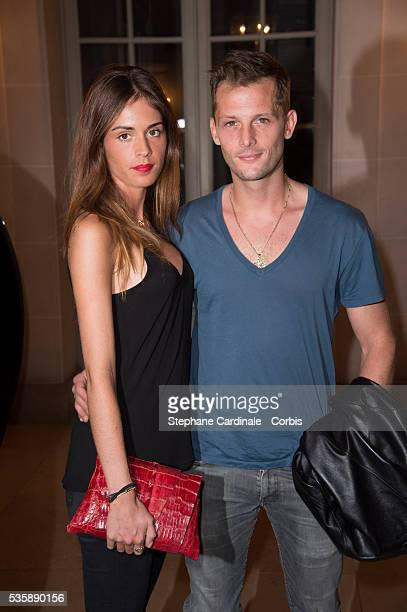 Nicolas Duvauchel and Laura Isaaz attend Lui Magazine Launch Party held at Foch Avenue in Paris