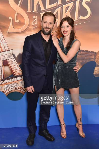 Nicolas Duvauchelle and Marilyn Lima attend the Une Sirene A Paris premiere at Cinema Max Linder on March 02 2020 in Paris France