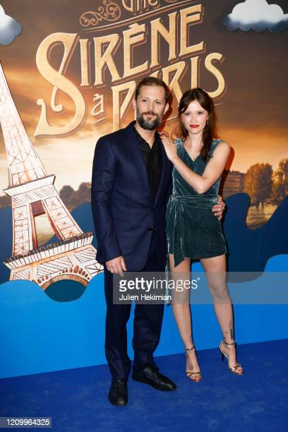 Nicolas Duvauchelle and Marilyn Lima attends the Une Sirene A Paris premiere at Cinema Max Linder on March 02 2020 in Paris France