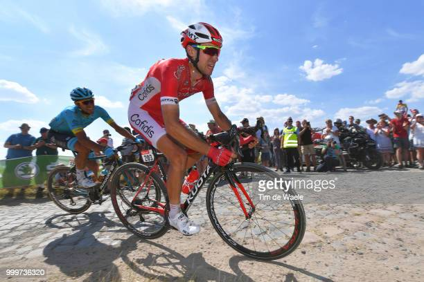Nicolas Edet of France and Team Cofidis / during the 105th Tour de France 2018 Stage 9 a 1565 stage from Arras Citadelle to Roubaix on July 15 2018...