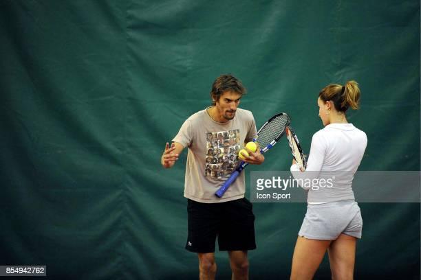 Nicolas ESCUDE / Alizee CORNET Entrainement Fed Cup