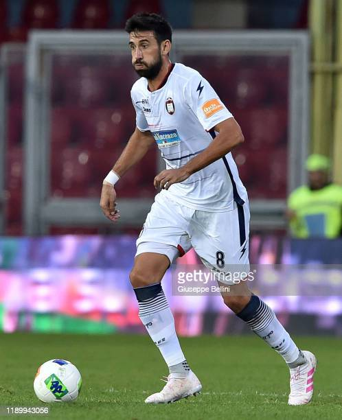 Nicolas Federico Spolli of Crotone FC in action during the Serie B match between Benevento Calcio and Crotone FC at Stadio Ciro Vigorito on November...
