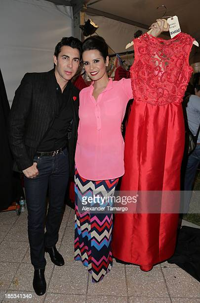 Nicolas Felizola and Karent Sierra participate in the Red Dress Fashion Show to benefit the American Heart Association during Funkshion Fashion Week...