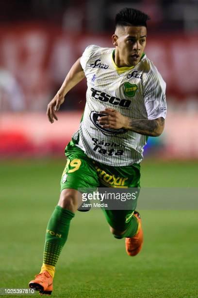 Nicolas Fernandez of Defensa y Justicia in action during a match between Independiente and Defensa y Justica as part of Superliga 2018/19 at Estadio...