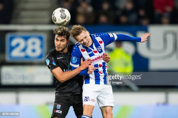 Nicolas Freire of PEC Zwolle Martin Odegaard of sc Heerenveen during the Dutch Eredivisie match between sc Heerenveen and PEC Zwolle at Abe Lenstra...
