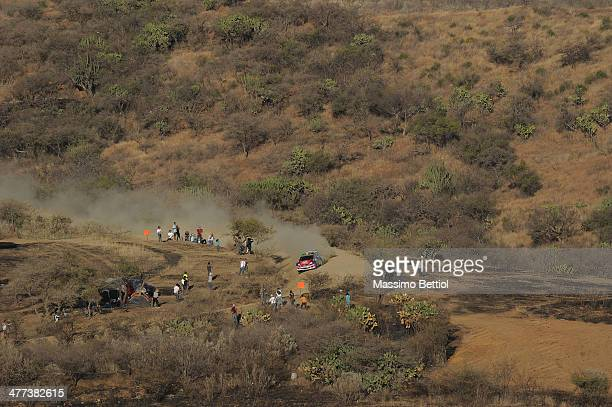 Nicolas Fuchs of Peru and Fernando Mussano of Argentina compete in their Ford Fiesta RRC during Day Two of the WRC Mexico on March 8 2014 in Leon...