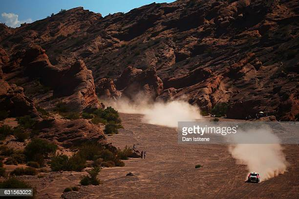 Nicolas Fuchs of Peru and HRX Wevers Sport drives with codriver Fernando Mussano of Argentina in the Ford HRX car in the Classe T11 4x4 ToutTerrain...