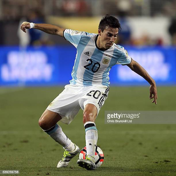 Nicolas Gaitan of Argentina in action during the Copa America Centenario Group D match between Argentina and Chile at Levi's Stadium on June 6 2016...