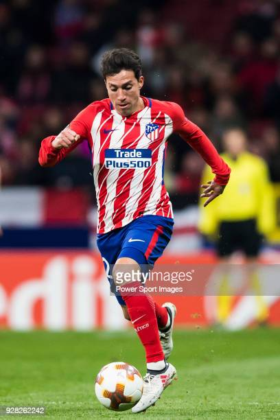 Nicolas Gaitan of Atletico de Madrid in action during the UEFA Europa League 201718 Round of 32 match between Atletico de Madrid and FC Copenhague at...