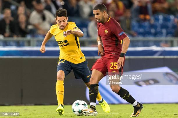 Nicolas Gaitan of Club Atletico de Madrid Bruno Peres of AS Roma during the UEFA Champions League group C match match between AS Roma and Atletico...