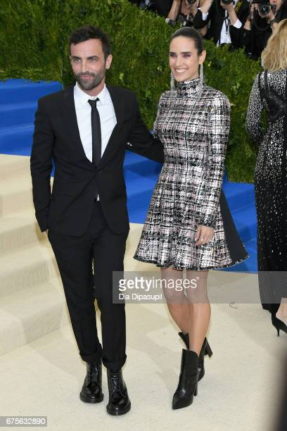 """Nicolas Ghesquiere and Jennifer Connelly attend the """"Rei Kawakubo/Comme des Garcons: Art Of The In-Between"""" Costume Institute Gala at Metropolitan..."""