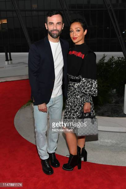 Nicolas Ghesquiere and Ruth Negga attend the Louis Vuitton Cruise 2020 Fashion Show at JFK Airport on May 08 2019 in New York City