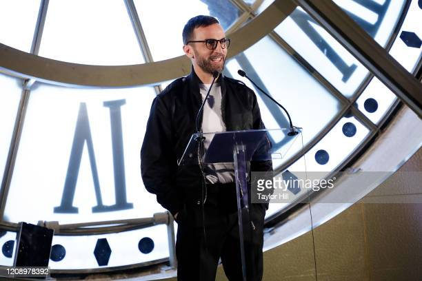 Nicolas Ghesquiere attends the press preview of About Time Fashion and Duration the 2020 Metropolitan Museum of Art Costume Institute exhibition at...