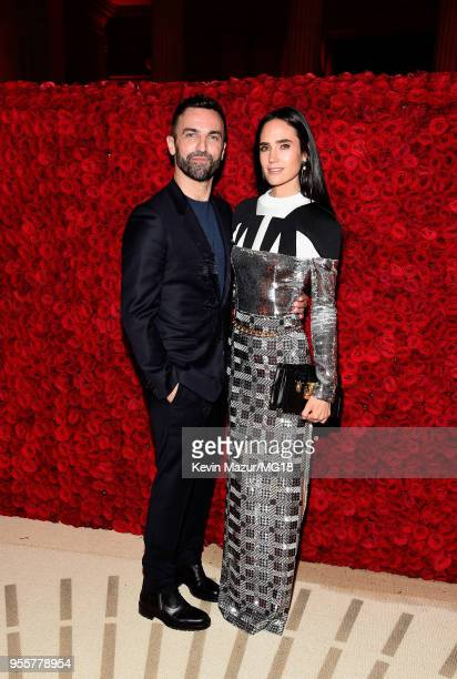 Nicolas Ghesquière and Jennifer Connelly attends the Heavenly Bodies Fashion The Catholic Imagination Costume Institute Gala at The Metropolitan...