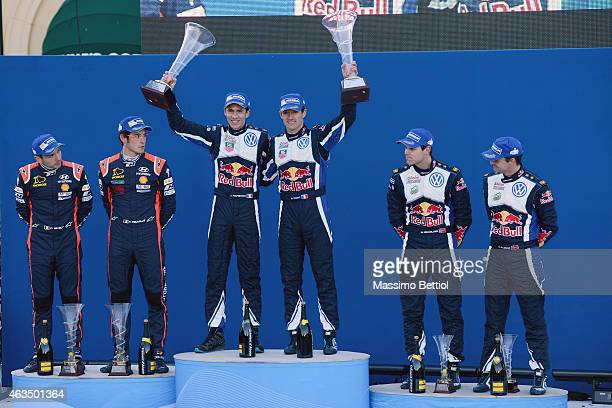 Nicolas Gilsoul of Belgium and Thierry Neuville of Belgium Julien Ingrassia of France and Sebastien Ogier of France Andreas Mikkelsen of Norway and...