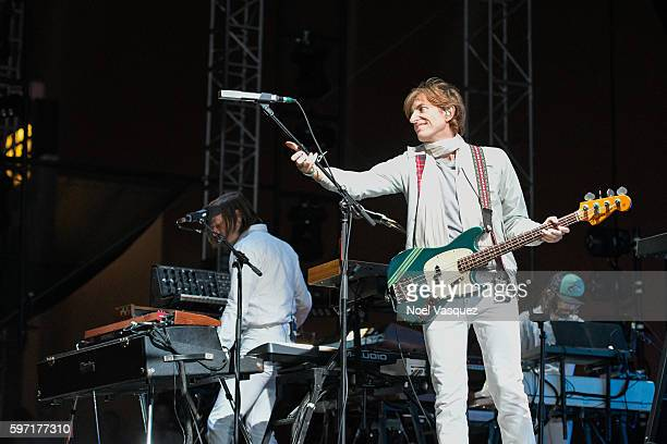 Nicolas Godin and JeanBenoit Dunckel of Air perform at FYF Fest 2016 Day 1 at the Los Angeles Sports Arena on August 27 2016 in Los Angeles California