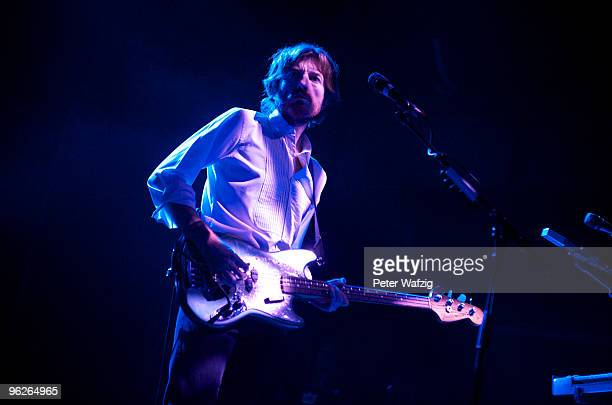 Nicolas Godin of Air performs on stage at the Palladium on January 29 2010 in Cologne Germany
