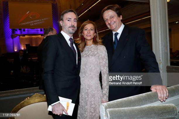 Nicolas Guiraud Anne Gravoin and JeanLuc Allavena attend the Fondation Prince Albert II De Monaco Evening at Salle Gaveau on February 21 2019 in...