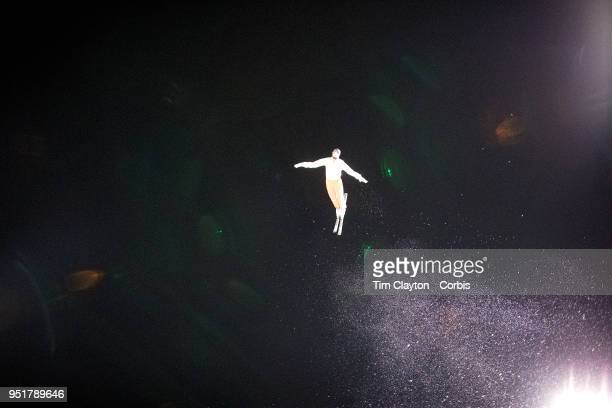 Nicolas Gygax of Switzerland in action during the Freestyle Skiing Men's Aerials Qualification at Phoenix Snow Park on February17 2018 in PyeongChang...