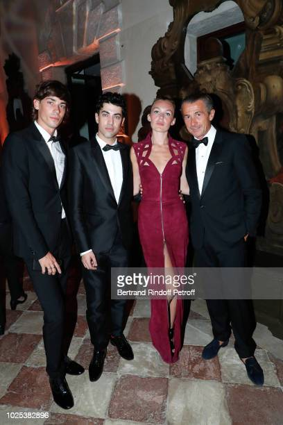 Nicolas Hau Julien Landais Alice Aufray and Francois Sarkozy attend the Celebrazione Party By Chopard and Generali To Honor The 75th Venice Film...