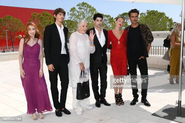 Nicolas Hau Vanessa Redgrave Julien Landais Alice Aufray and Jon Kortajarena attend 'The Aspern' photocall during the 75th Venice Film Festival at...