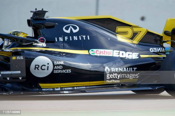 Nicolas Hülkenberg during the winter test days at the Circuit de Catalunya in Montmelo February 18 2019