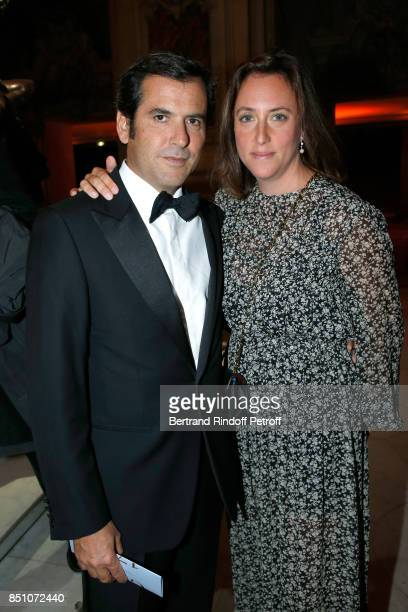 Nicolas Houze and his wife AnneCharlotte attend the Opening Season Gala Ballet of Opera National de Paris Held at Opera Garnier on September 21 2017...