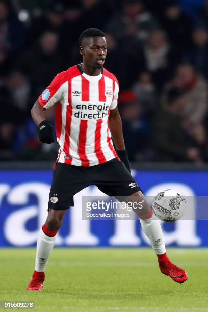 Nicolas Isimat Mirin of PSV during the Dutch Eredivisie match between PSV v Excelsior at the Philips Stadium on February 7, 2018 in Eindhoven...