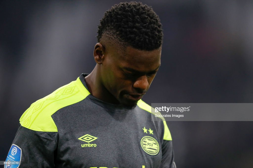 Nicolas Isimat of PSV during the Dutch Eredivisie match between Ajax v PSV at the Johan Cruijff Arena on December 10, 2017 in Amsterdam Netherlands