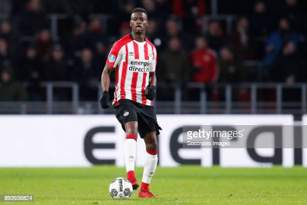 Nicolas Isimat of PSV during the Dutch Eredivisie match between PSV v ADO Den Haag at the Philips Stadium on December 16, 2017 in Eindhoven...