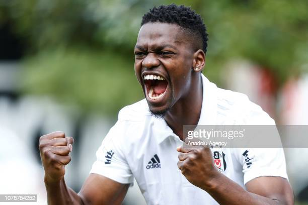 Nicolas Isimat-Mirin of Besiktas poses for a photo after holding a press conference at Besiktas' halftime training camp ahead of the 2nd half of...
