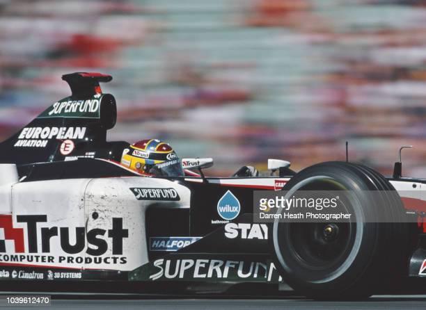 Nicolas Kiesa of Denmark drives the European Minardi Cosworth Minardi PS03 Cosworth V10 during the Formula One German Grand Prix on 3 August 2003 at...