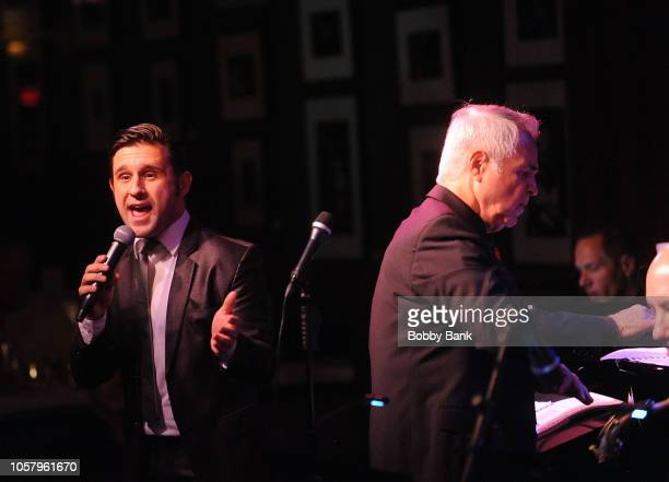 Nicolas King and Charles Calello perform with the Charles Calello Band at Birdland Jazz Club on November 5 2018 in New York City