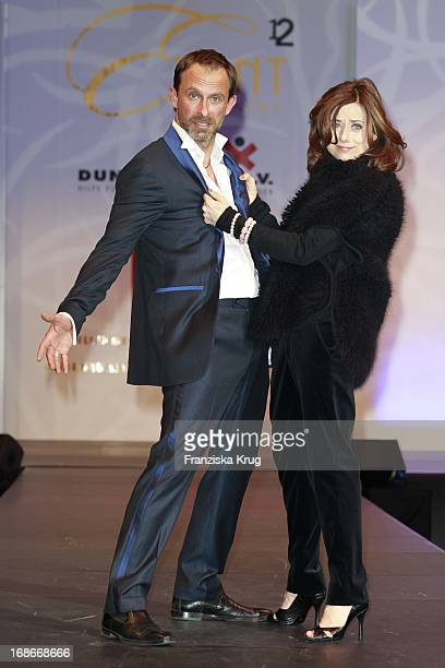 Nicolas König and Inka Friedrich at The Event Prominent fashion show at the Grand Elysée in Hamburg